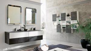 TEKNO TK-07, Arredo completo per bagno con due specchi