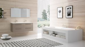 BLUES BL-09, Mobile bagno con 2 lavabi