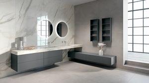 BLUES BL2.04, Arredo completo per bagno con doppio lavabo