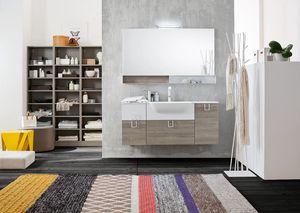 Byte 2.0 comp.02, Mobile bagno con specchiera con scaffalatura