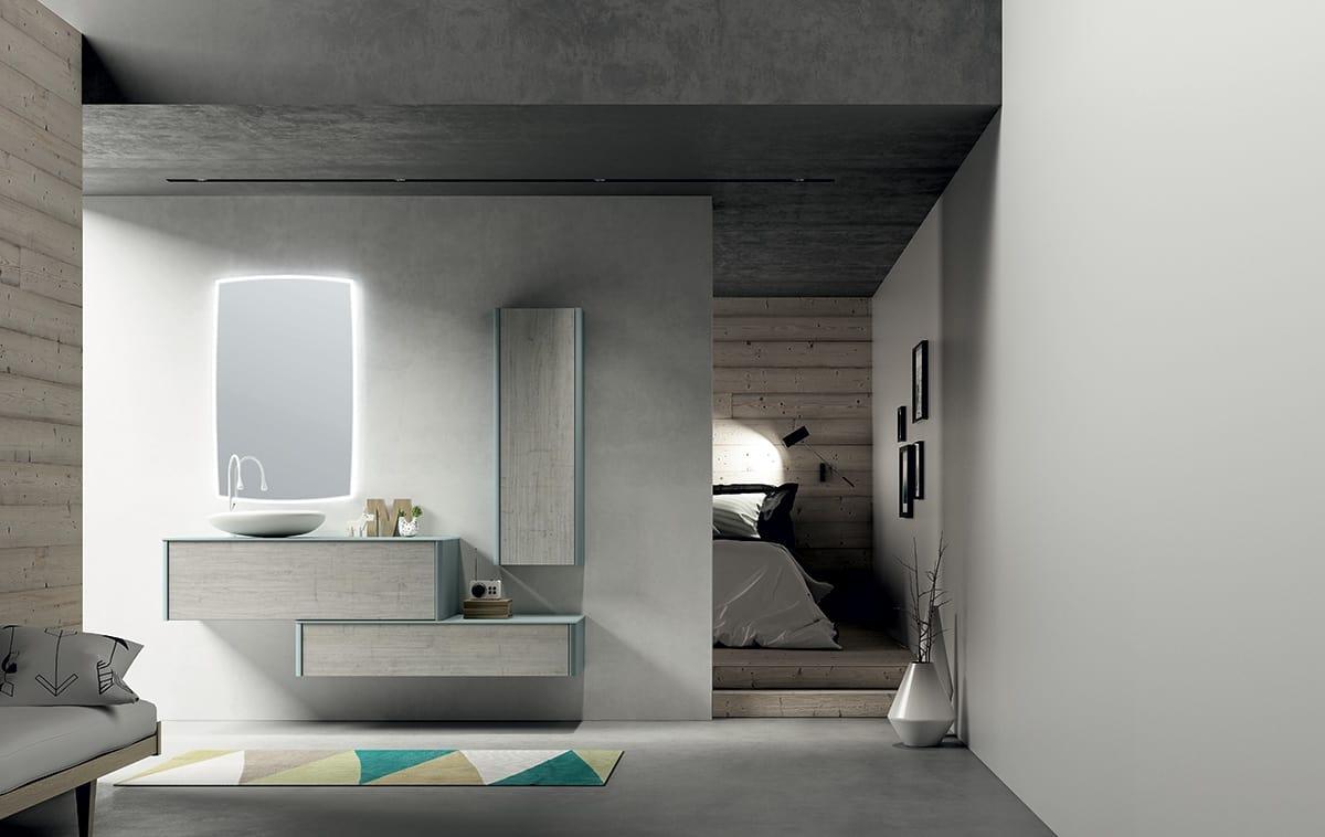 Mobile bagno componibile con pensili idfdesign