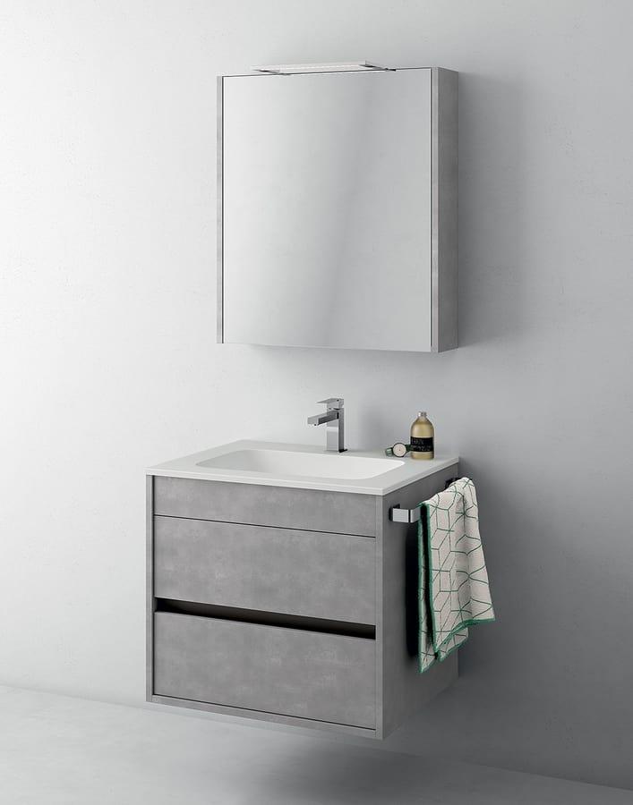 Mobile salvaspazio per bagno con specchiera idfdesign for Prezzi lavabo bagno