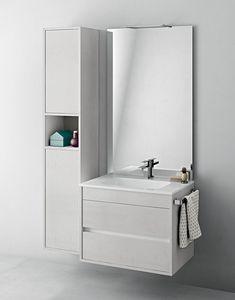 Duetto comp.06, Mobile salvaspazio da bagno con portasalviette