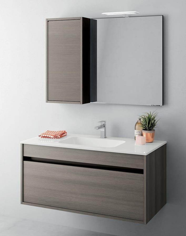 Mobile bagno salvaspazio con cassetti senza maniglia for Mobile bagno salvaspazio