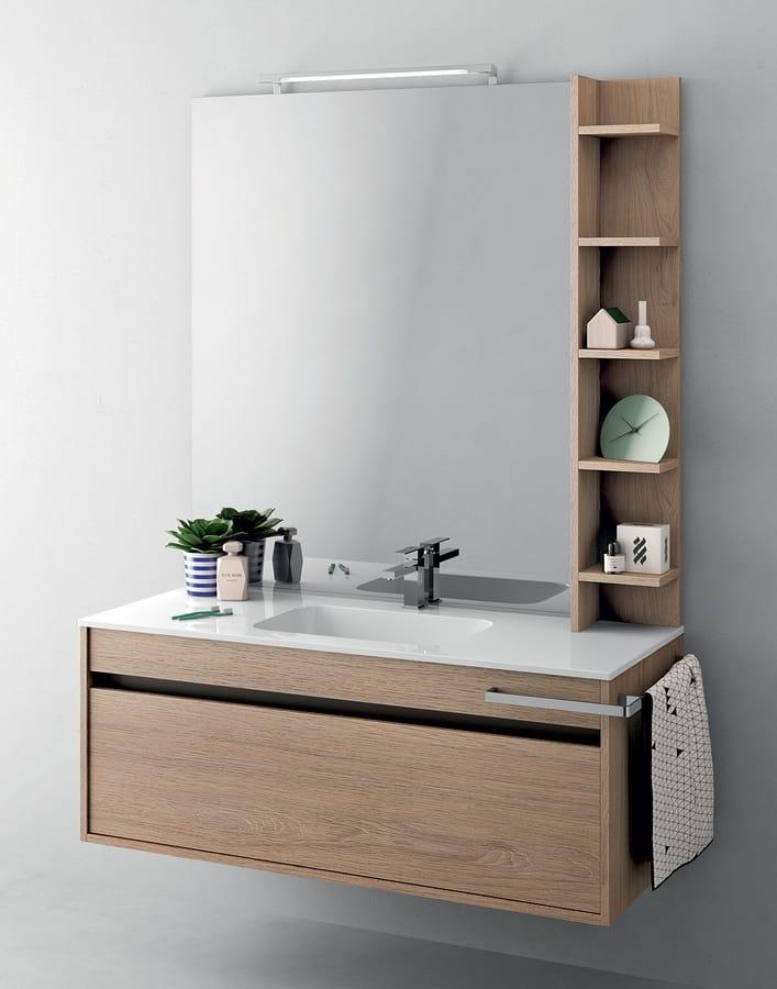 Mobile salvaspazio per bagno con luce integrata idfdesign for Mobile bagno salvaspazio