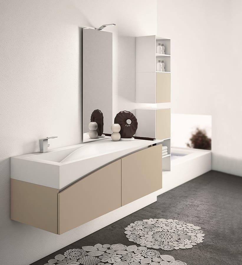 Arredo bagno completo con mobile a muro | IDFdesign