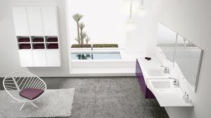 FLY 14, Soluzione d'arredo bagno con doppio lavabo