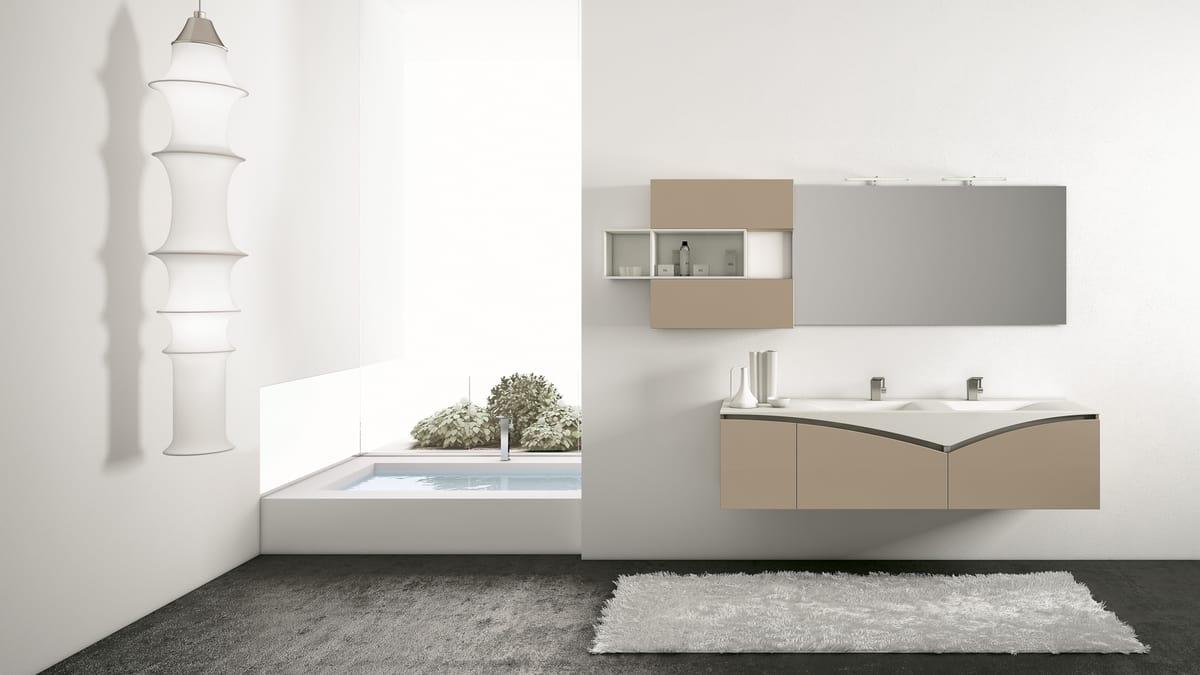 Pensili Da Bagno Verticali : Mobile bagno con pensili con apertura a pistoni idfdesign