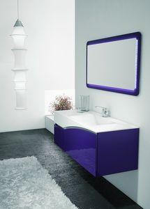 FLY 04, Mobile viola e bianco per  bagno
