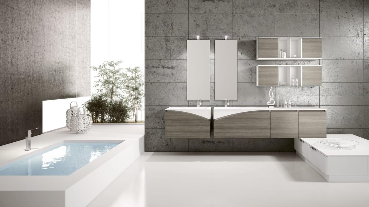 Pensili Da Bagno Verticali : Arredo completo per bagno con pensili a giorno idfdesign
