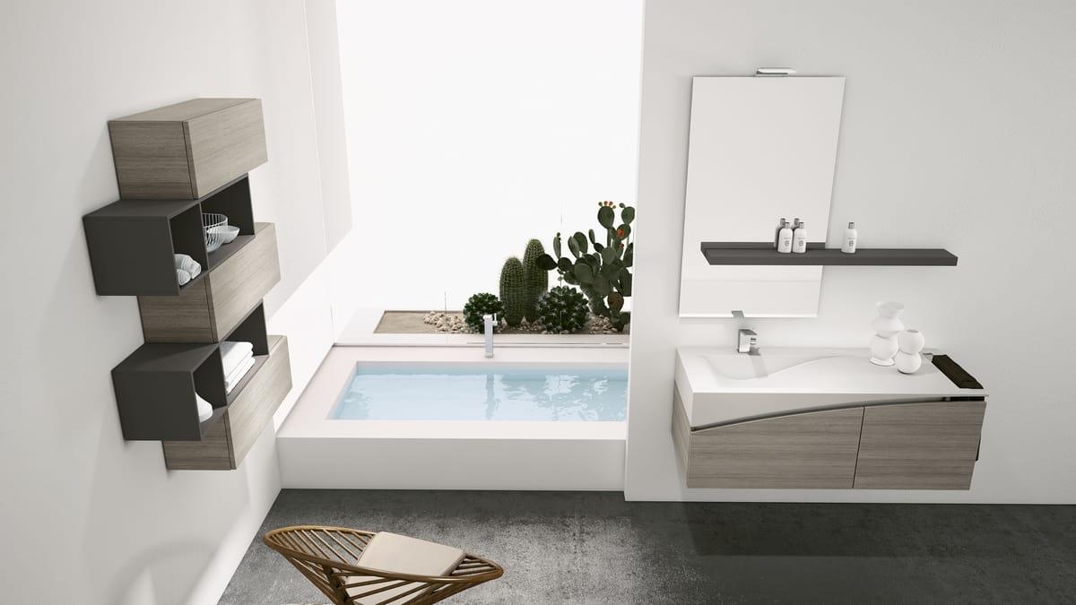 Arredo completo per bagno con pensili idfdesign for Arredo bagno completo prezzi
