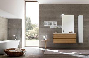 Lime 2.0 comp.12, Mobile bagno moderno, dalle dimensioni contenute