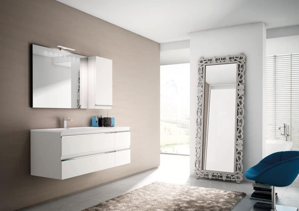 Arredo per bagno, in laccato bianco opaco | IDFdesign