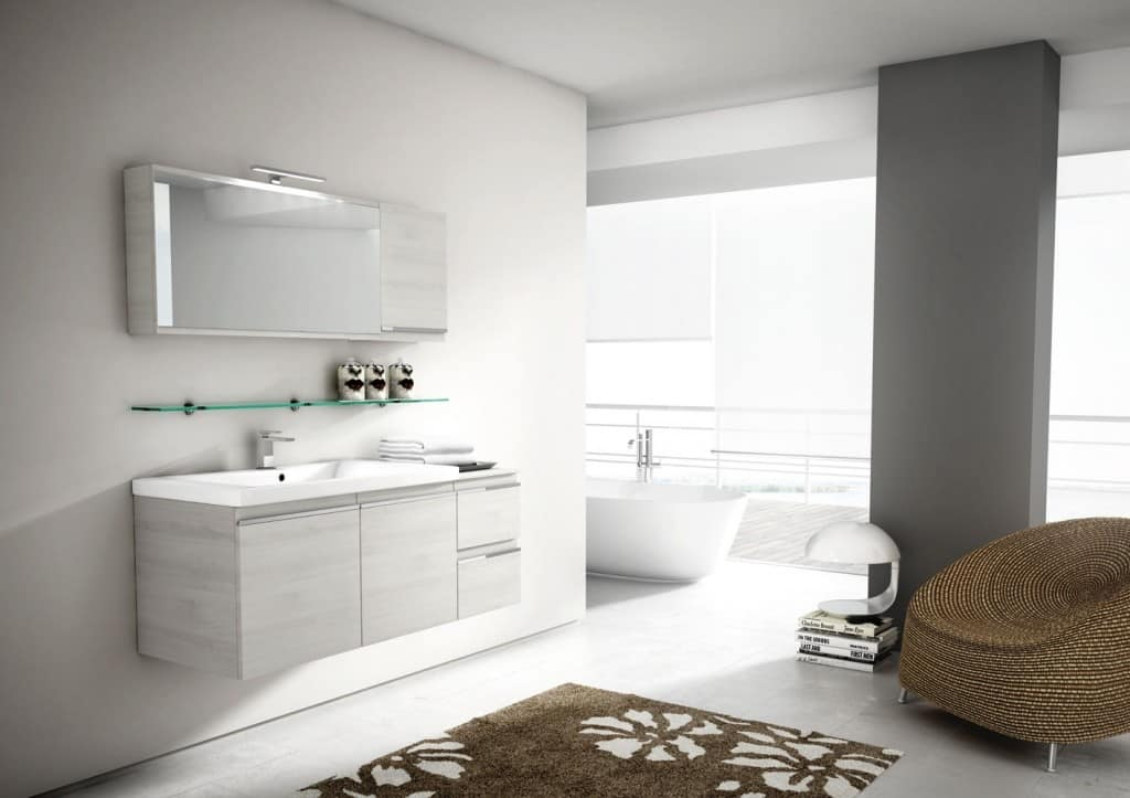 Mobile da bagno con specchio con apertura basculante | IDFdesign