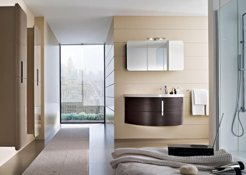 Mobili da bagno con specchio contenitore idfdesign - Mobile bagno moon ...