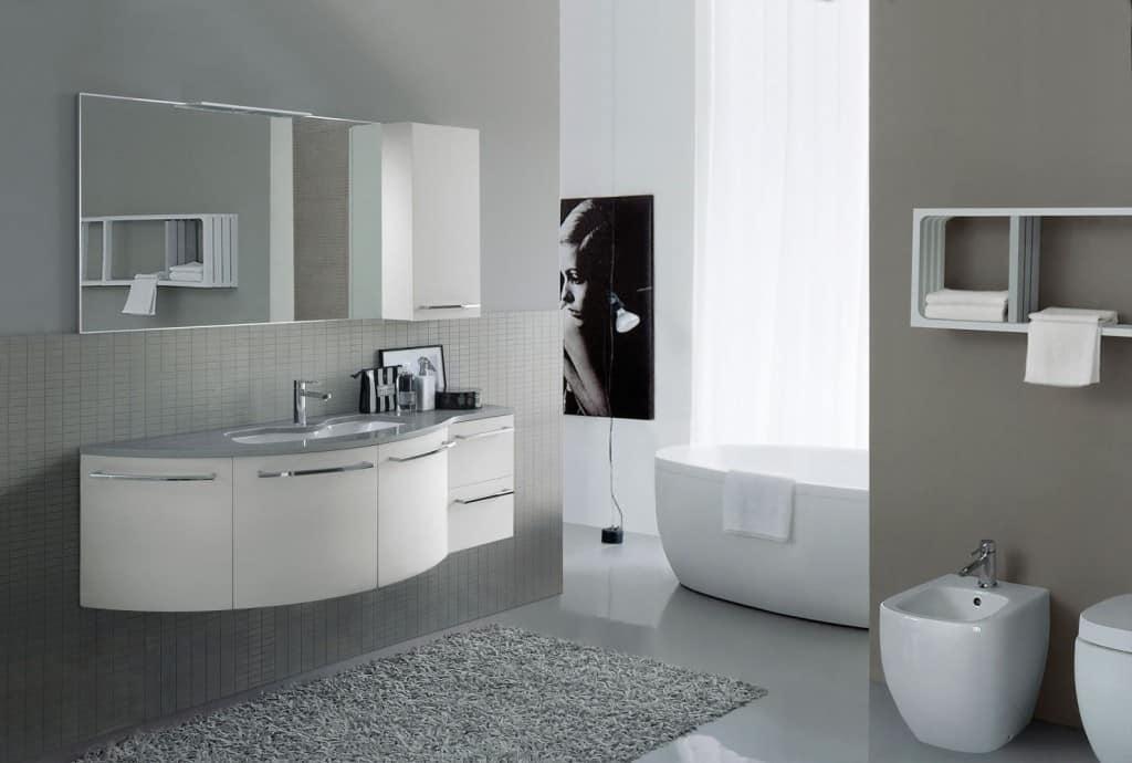 Mobile per bagno dal design curvo idfdesign - Armadietti per bagno ...