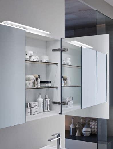 Mobile da bagno con pensile con ante a specchio idfdesign - Pensile specchio bagno ...