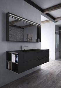 Sense comp.03, Mobile per bagno in Fenix Nero