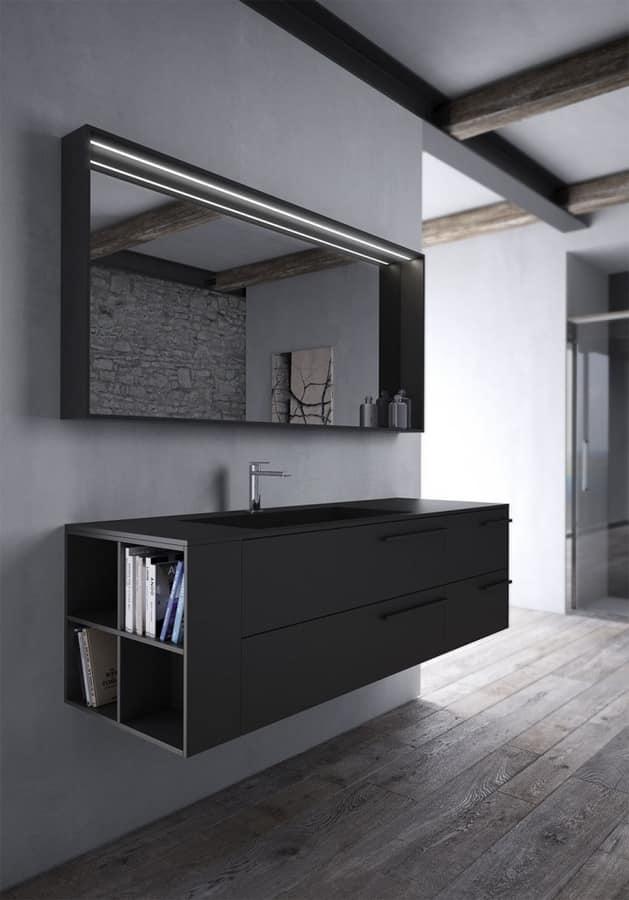 Mobile per bagno in fenix nero idfdesign - Aqua mobili bagno ...