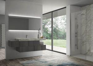 Sense comp.07, Mobile da bagno con specchiera retroilluminata