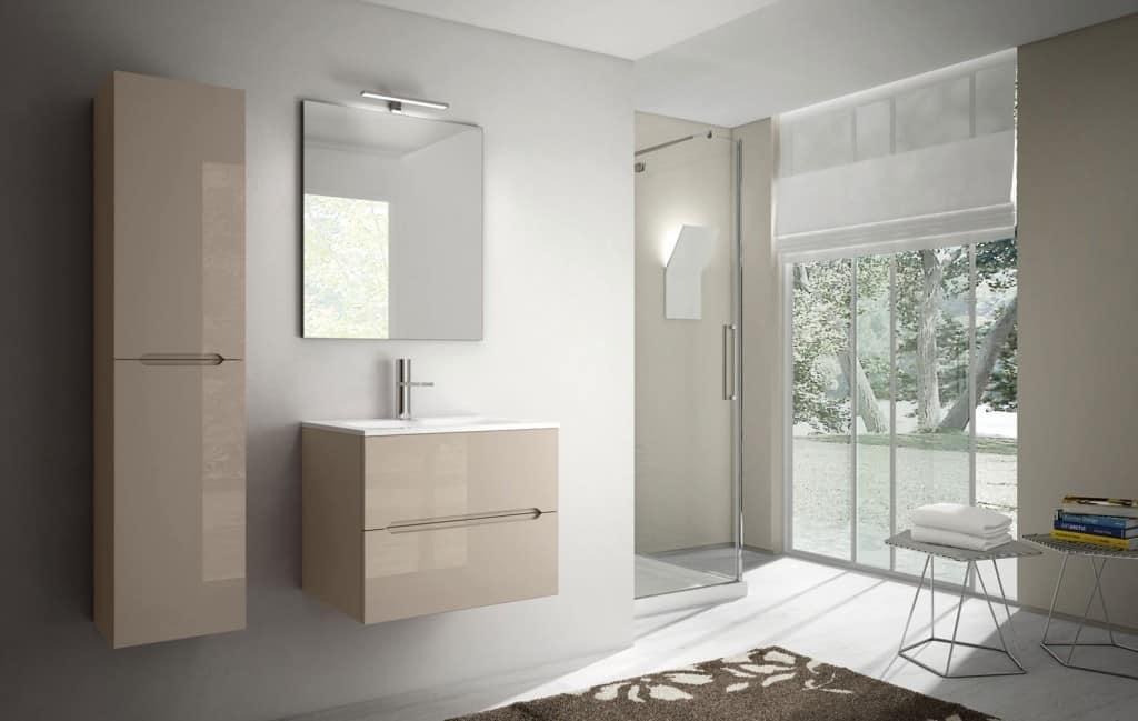 Arredo Bagno Compatto : Mobile compatto per bagno con piano in mineralmarmo idfdesign