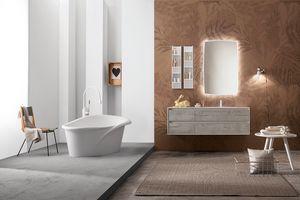 Summit 2.0 comp.08, Set mobili da bagno con specchiera