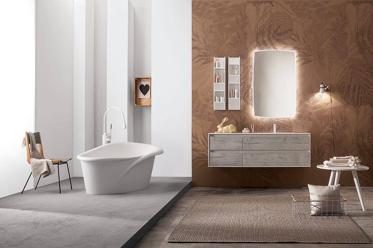Set Da Bagno Moderno : Set mobili da bagno con specchiera idfdesign