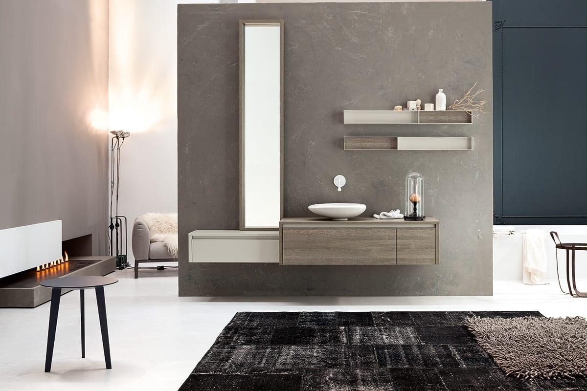 Bagno composizione d arredamento per bagno in legno idfdesign