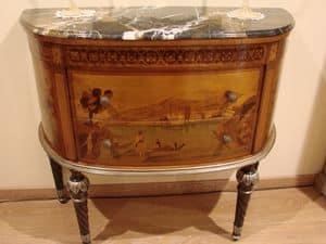 Art. 1005, Mobile classico per la casa, in legno con intarsi