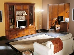 Art.103/L, Mobile porta-TV in legno massello, stile classico