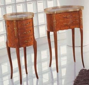 Art. 54, Mobiletto tondo in legno, stile classico