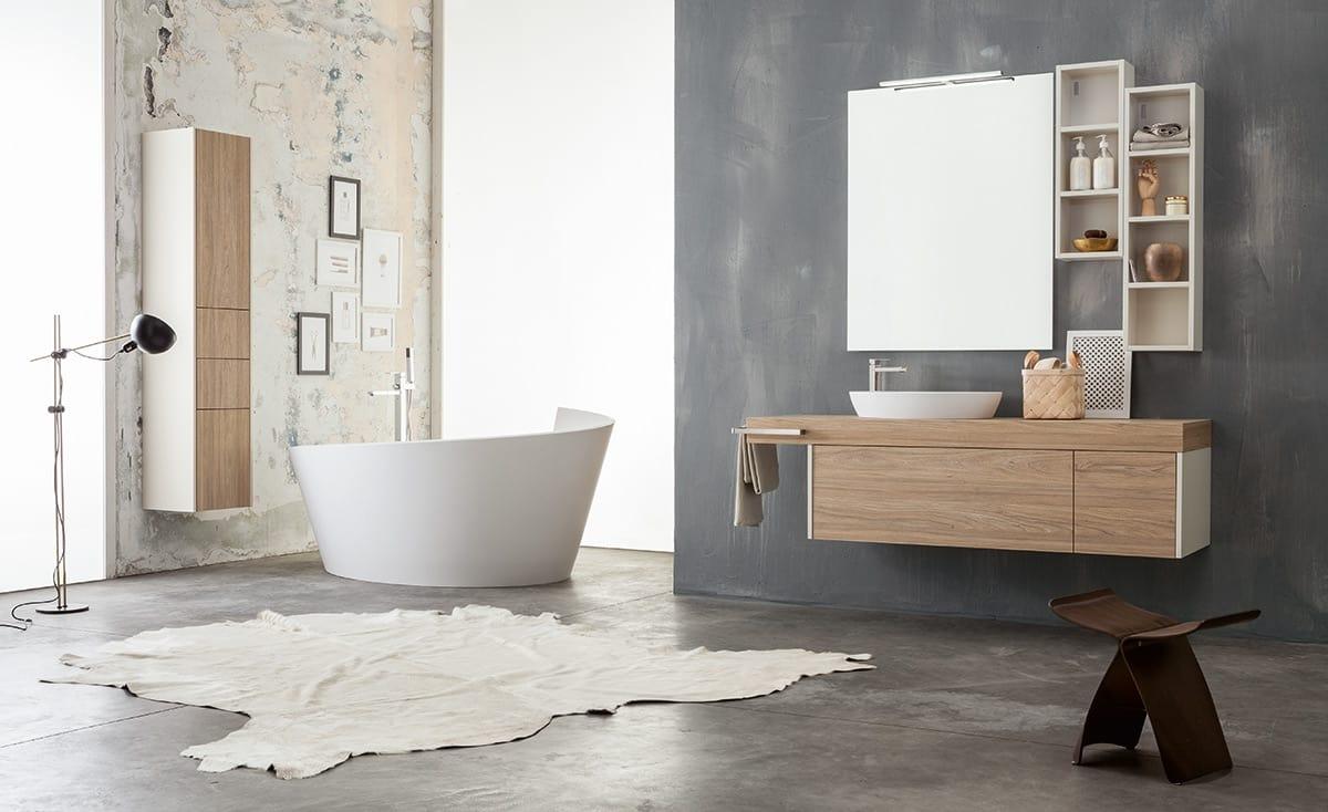 Mobile bagno modulare con colonne portaoggetti idfdesign