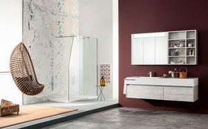Kami comp.14, Mobile bagno con ampi cassetti e specchiera