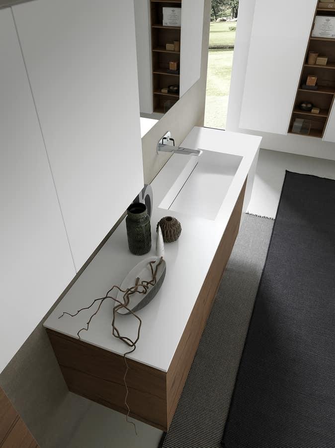 Mobili da bagno con capienti colonne pensili idfdesign for Colonne bagno moderne