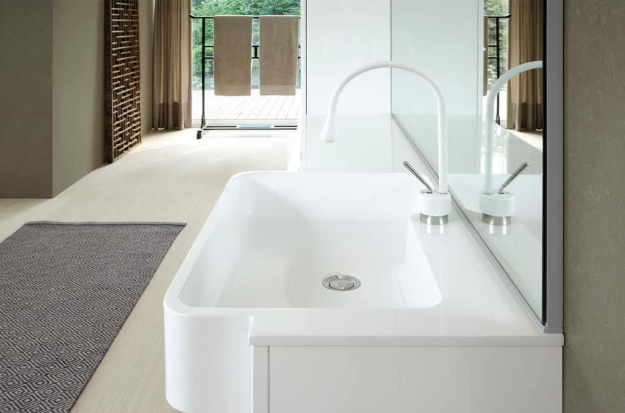 Mobile da bagno laccato bianco lucido | IDFdesign