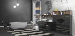 Torana TR 031, Mobile da bagno nero lucido