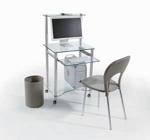 PC2, Scrivania porta computer, porta tastiera estraibile