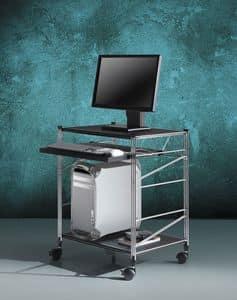 Immagine di Socrate carrelli portacomputer 2, mobile porta computer