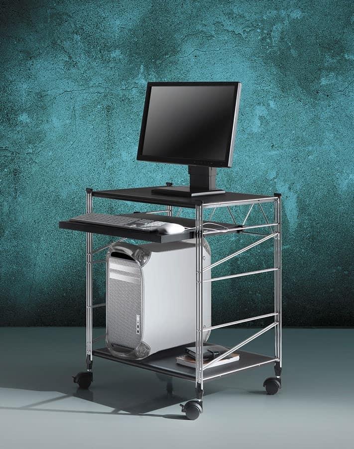Socrate carrelli portacomputer 2 mobiletto per computer for Mobiletto camera