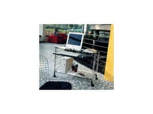 Immagine di Socrate carrelli portacomputer, scrivanie con porta tastiera