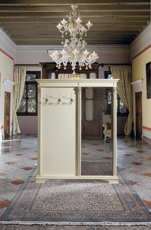Mobile classico di ingresso con appendiabiti e specchiera for Mobile ingresso classico