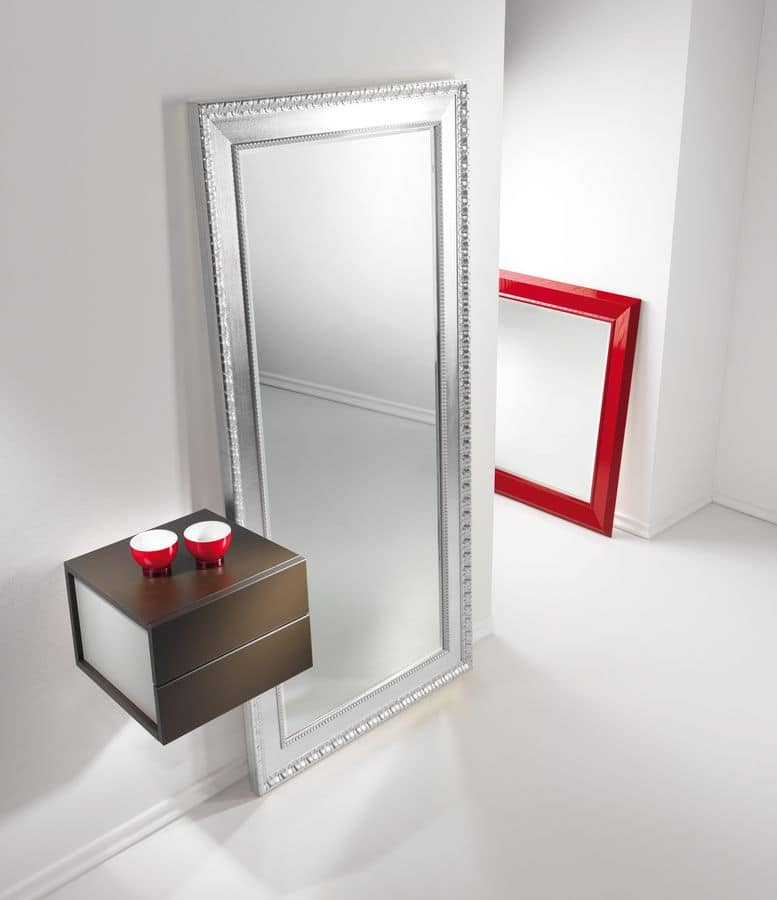 Mobile ingresso con due cassetti e specchio idfdesign - Ingresso con specchio ...