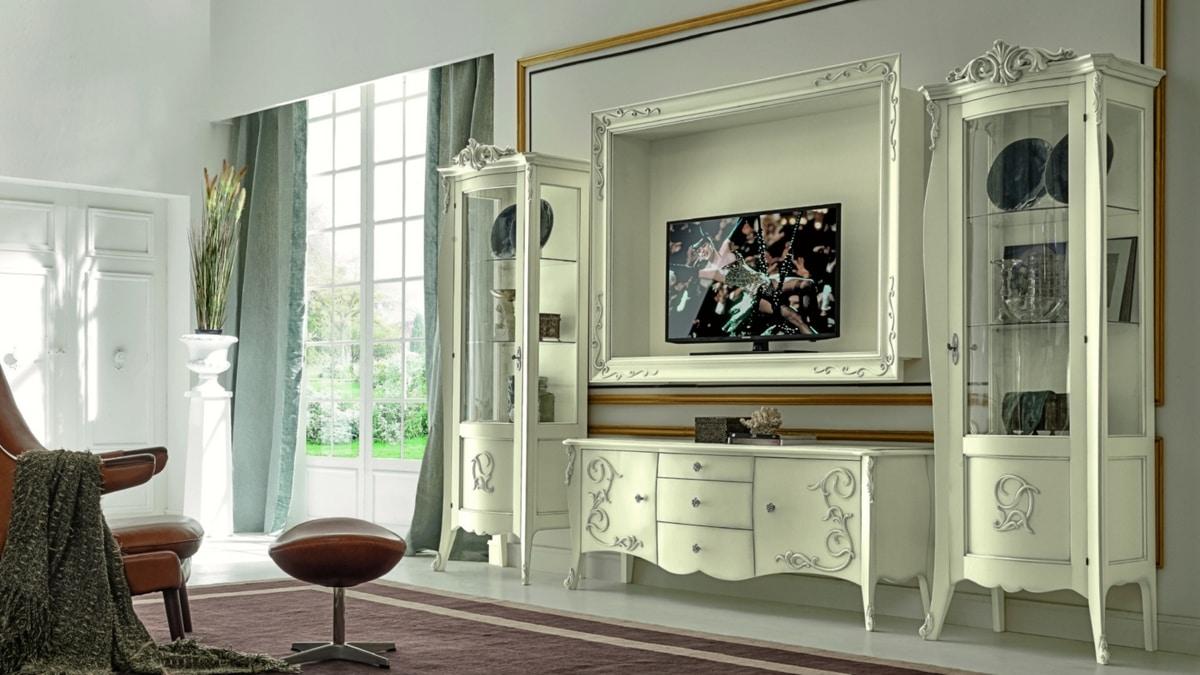 Porta Tv Barocco Moderno.Mobile Porta Tv Stile Barocco Idfdesign