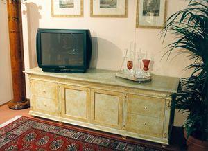 Art. 755, Mobile TV con laccatura beige
