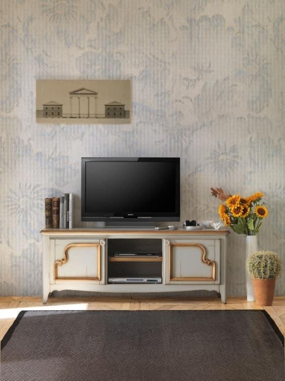 Mobiletto porta tv in legno, stile provenzale   IDFdesign