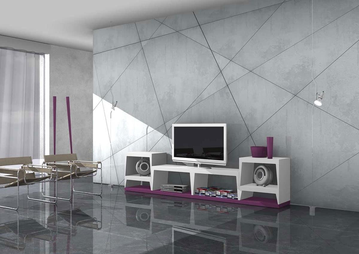 Amazon mobili porta tv arredo per soggiorno con mensole e for Arredo casa amazon