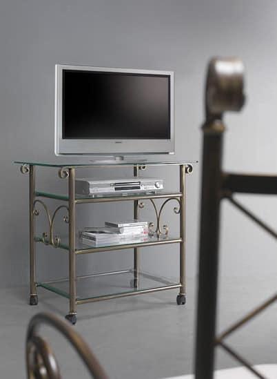 Porta Tv Lcd Vetro.Mobile Home Cinema Con Piano In Vetro Idfdesign