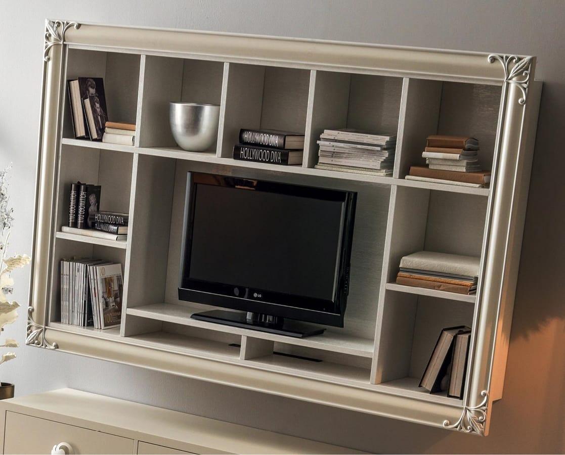 Libreria Porta Tv Da Parete Idfdesign