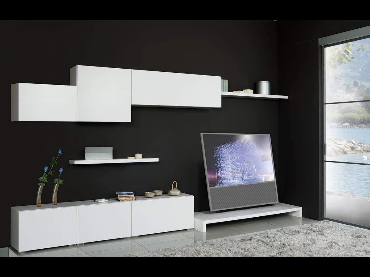 Mensole arredo salotto arredare un soggiorno quadrato for Mensole per quadri