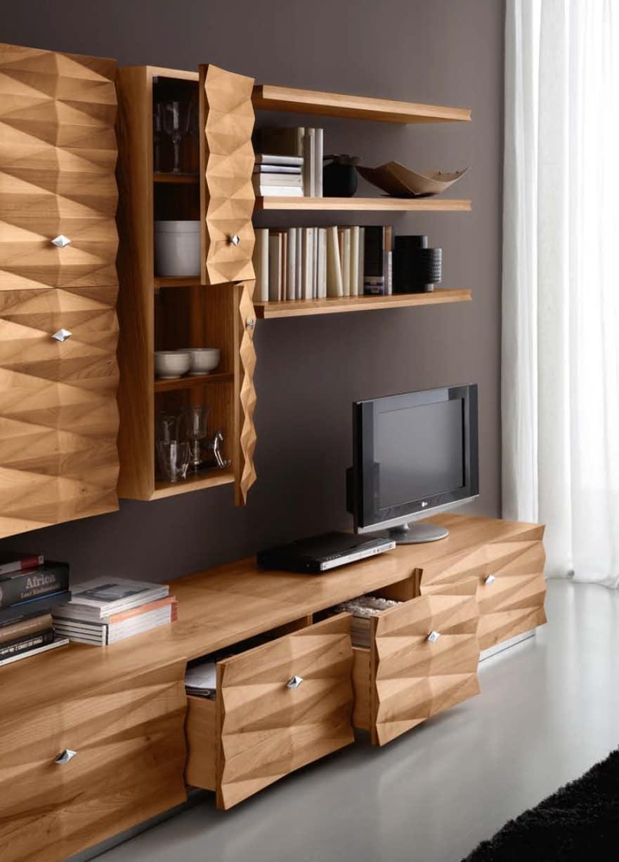 Mobile per soggiorno contemporaneo con armadi e cassetti - Armadi per soggiorno ...